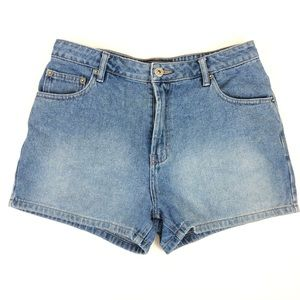 Route 66  Denim High Waisted Shorts Blue size 10